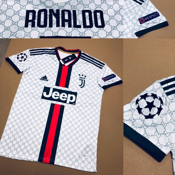 best website 1aca1 ba9f0 Ronaldo #7 Juventus Concept GG UEFA Soccer Jersey NWT